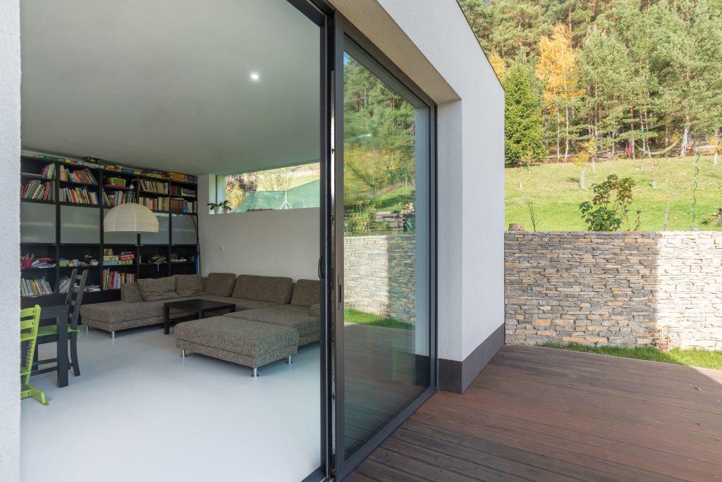 Moderní dřevostavba v Lazinově