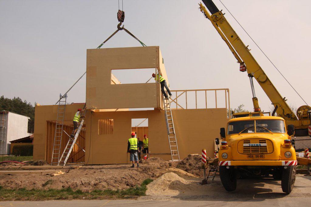 Montáž dřevostavby v Dubňanech