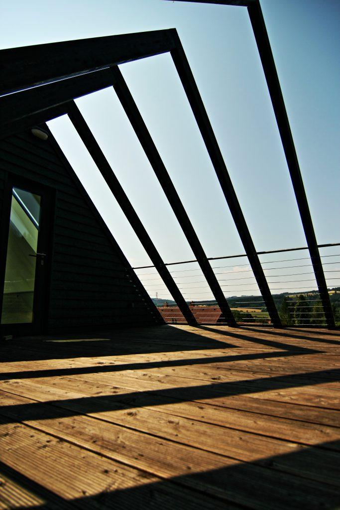 Moderní dřevostavba v Lazinově - horní terasa