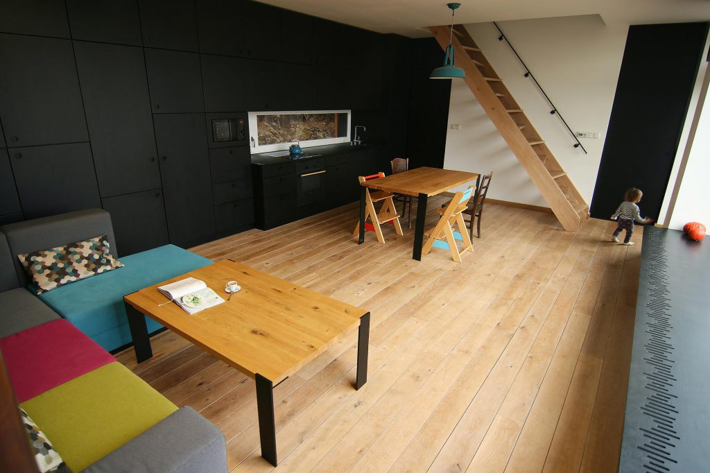 Dřevostavba Ochoz u Brna - interiér