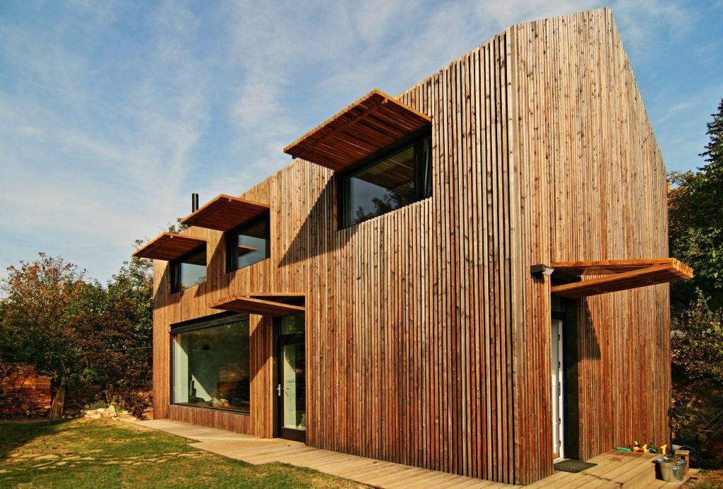 Moderní dřevostavba v Ochozi u Brna