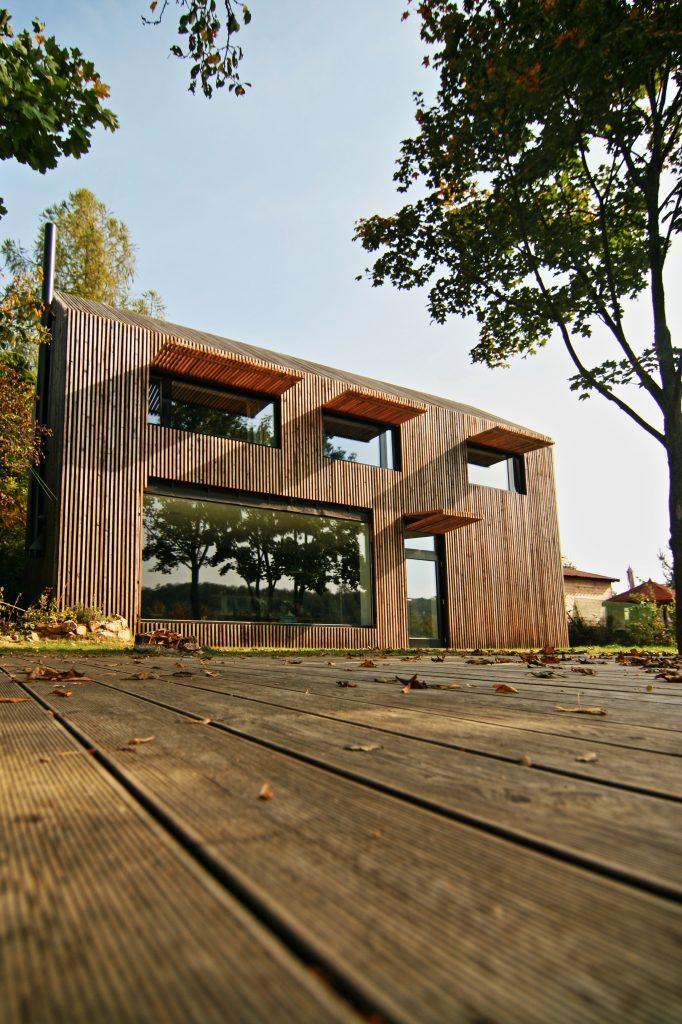 Moderní dřevostavba Ochoz