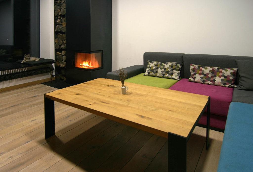 Moderní dřevostavba interiér